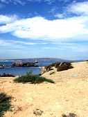 Looking Towards Alicante Solitary Beach View