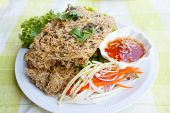 image of catfish  - crispy catfish spicy salad and sweet sauce Thai food - JPG
