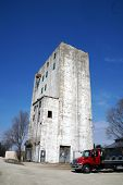 stock photo of elevators  - An old grain elevator in Plainfield - JPG