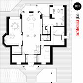 pic of architecture  - Architectural drawing house plan - JPG