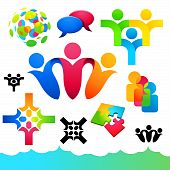 Social People Icons and Elements