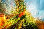 stock photo of shaky  - Abstract circles of light blurred movements and contrasting colors - JPG