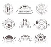 image of food label  - Set of Vintage Decorations Labels - JPG
