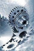 picture of titanium  - titanium and steel aerospace engineering parts - JPG