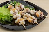 picture of cuttlefish  - Grilled cuttlefish bbq with rosemary and pepper - JPG