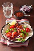image of kidney beans  - vegan taco with vegetable - JPG