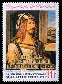 Postage Stamp With Albrecht Durer Self-portrait