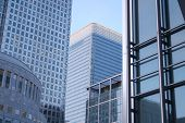 Canary Wharf Buildings poster