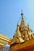 Gold Buddha Pagoda In Sky Background