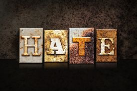 stock photo of hate  - The word  - JPG