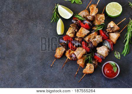 Chicken kebab on