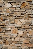 picture of wall-stone  - Old stone wall texture - JPG