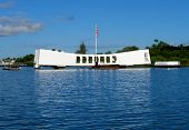 U.S.S. Arizona Memorial at Pearl Harbor in Honolulu, Hawaii