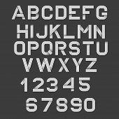Retro Alphabet Font. poster