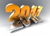 3d new year 2011 symbol