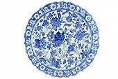 Historical Turkish Ottoman tile plate