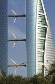 Bahrain World Trade Center - Wind turbine detail