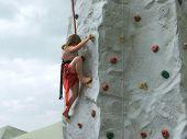 Rock Climbing At The Fair