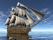 pic of sloop  - sailing ship - JPG
