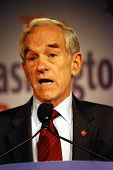 WASHINGTON DC â?? OCT 19: Representative Ron Paul speaking at â??Washington Briefing 2007: Values Vo