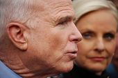 Senator John McCain and wife Cindy McCain