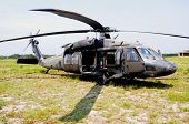 KILL DEVIL HILLS, NC - AUG 5: A Sikorsky UH-60 Black Hawk helicopter, based at 82nd Airborne Div. at