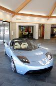 MENLO PARK-JULY 31: Tesla Roadster is the first plug-in electric car in years in production in the U