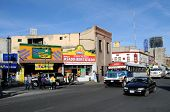 CIUDAD JUAREZ - FEB. 27: Busy intersection of Avenida 16 de Septiembre and 2da Calle Ugarte in downt