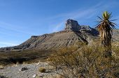 stock photo of mountain-range  - Scenic Guadalupe Mountains stretch from Texas to New Mexico - JPG