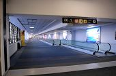 MEXICO CITY - MAY 1: Hallways of the Benito Juarez Airport in Mexico City are nearly deserted on May