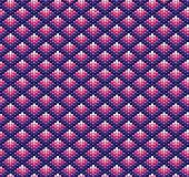An illustration of beadwork in shades of pink and purple. Ethnic design.