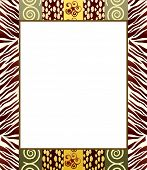 A vector illustration of an African style frame in earth tones. Space for your text or picture. EPS10 vector format.