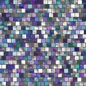 The image of a blue ceramic tile close up