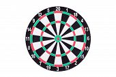 Постер, плакат: Darts Board Isolated On White Background New Dartboard For Darts Game