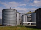 stock photo of biogas  - Small but modern rural biogas plant  - JPG