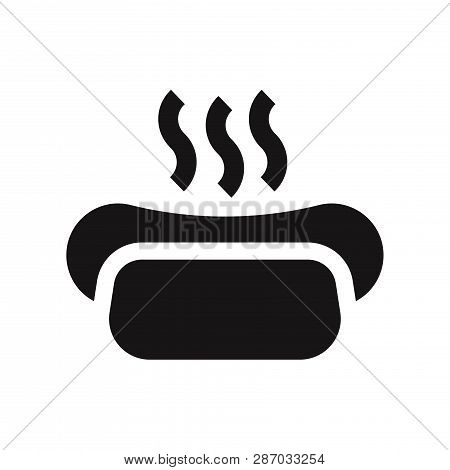 poster of Hot-dog Icon Isolated On White Background. Hot-dog Icon In Trendy Design Style. Hot-dog Vector Icon