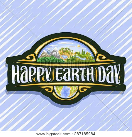 Vector Logo For Earth Day