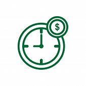 Time Is Money Icon Isolated On White Background. Time Is Money Icon Simple Sign. Time Is Money Icon  poster