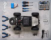 Radio-controlled Car Models: Repair Kit For Rc Models. poster