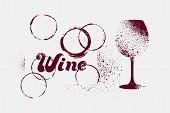 Wine Typographical Vintage Grunge Stencil Splash Style Poster Design. Retro Vector Illustration. poster