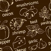 Pizza Gekritzel seamless pattern