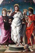 Jesus Christ And Saints, Painting