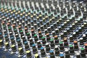 Buttons Equipment For Sound Mixer Control, Sound Equipment. poster