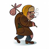pic of hobo  - Homeless beggar hobo crisis problem depression job work unemployment - JPG