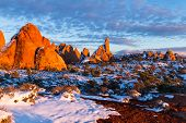 Winter In Arches National Park poster