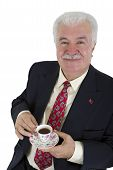 Turkish Coffee Drinker Business Man
