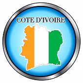 Cote D'ivoire Rep Round Button