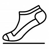 Small Sock Icon. Outline Small Sock Icon For Web Design Isolated On White Background poster