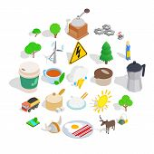 Sweden Culture Icons Set. Isometric Set Of 25 Sweden Culture Icons For Web Isolated On White Backgro poster