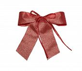 pic of wraith  - red metal giftbow with clipping path - JPG